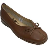 Chaussures Femme Mocassins 48 Horas Vamp d'ouverture de femme avec cou-de-pi marrón