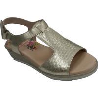 Chaussures Femme Sandales et Nu-pieds Pepe Menargues Sandale velcro pour femme avec pelle gra oro