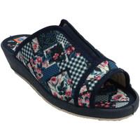 Chaussures Femme Chaussons Made In Spain 1940 Tongs femme bout ouvert et talon élastiq azul