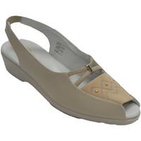 Chaussures Femme Mocassins Doctor Cutillas Sandales femme bout ouvert et talon pell beige