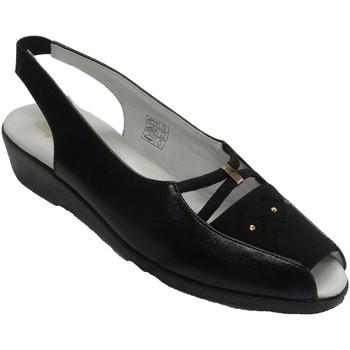 Chaussures Femme Mocassins Doctor Cutillas Sandales femme bout ouvert et talon Pell negro