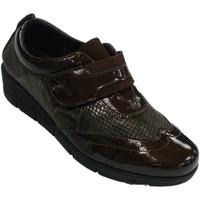 Chaussures Femme Mocassins 48 Horas Chaussures pour femmes en peau de velcro marrón