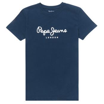 Vêtements Garçon T-shirts manches courtes Pepe jeans ART Marine