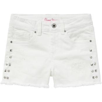 Vêtements Fille Shorts / Bermudas Pepe jeans ELSY Blanc