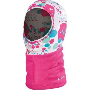 Accessoires textile Fille Bonnets Cairn BANJI J CAGOULE IMPRIMEE/UNIE FUCHSIA PRISME CAGOULE FUCHSIA PRISME