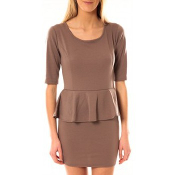 Vêtements Femme Robes courtes Tcqb Robe Moda Fashion Taupe Marron