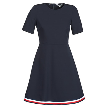 Vêtements Femme Robes courtes Tommy Hilfiger ANGELA GLB STP Marine