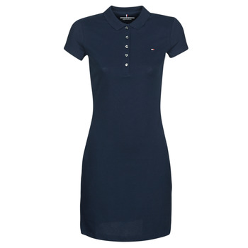 Vêtements Femme Robes courtes Tommy Hilfiger HERITAGE SLIM POLO DRS Marine