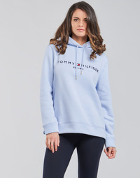 Vêtements Femme Sweats Tommy Hilfiger TH ESS HILFIGER HOODIE LS Bleu Ciel