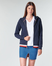Vêtements Femme Sweats Tommy Hilfiger HERITAGE ZIP THROUGH HOODIE Marine