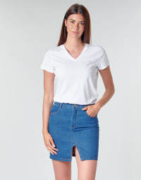 Vêtements Femme T-shirts manches courtes Tommy Hilfiger HERITAGE V-NECK TEE Blanc