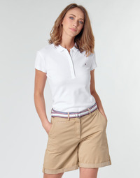 Vêtements Femme Polos manches courtes Tommy Hilfiger HERITAGE SS SLIM POLO Blc