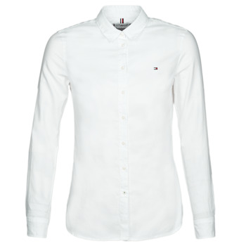 Vêtements Femme Chemises / Chemisiers Tommy Hilfiger HERITAGE REGULAR FIT SHIRT Blanc