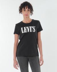 Vêtements Femme T-shirts manches courtes Levi's THE PERFECT TEE Noir