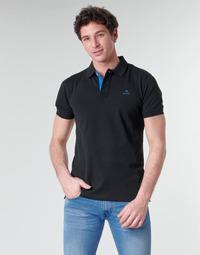 Vêtements Homme Polos manches courtes Gant GANT CONTRAST COLLAR PIQUE POLO Noir / Bleu