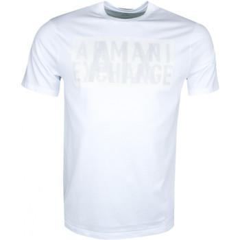 Vêtements Homme T-shirts manches courtes Armani T-shirt col rond  Exchange blanc régular pour homme Blanc