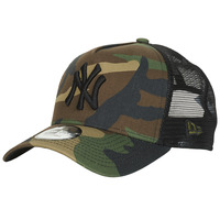 Accessoires textile Casquettes New-Era CLEAN TRUCKER NEW YORK YANKEES Camouflage / Kaki