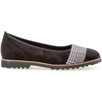 Chaussures Femme Ballerines / babies Gabor Ballerines velours talon  plat Noir