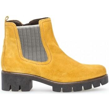 Chaussures Femme Bottines Gabor Bottine velours talon  décroché Jaune