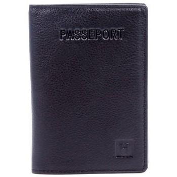 Sacs Homme Porte-Documents / Serviettes Hexagona Pochette passeport  en cuir ref_32014 Mari Bleu