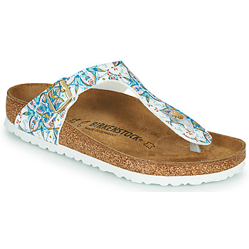 Chaussures Femme Tongs Birkenstock GIZEH Blanc / Multicolore