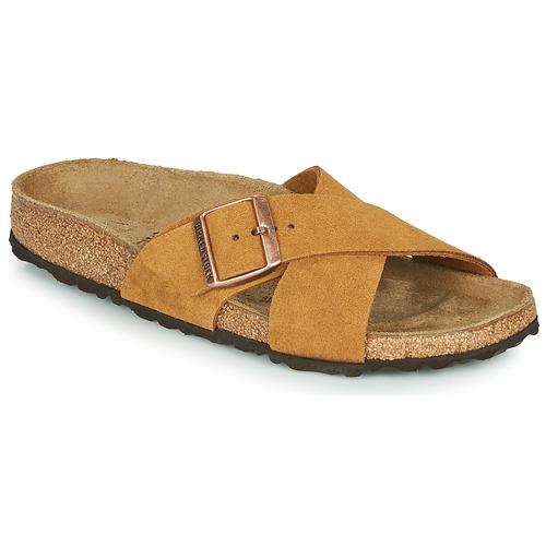 Chaussures Femme Mules Birkenstock SIENA LEATHER Camel