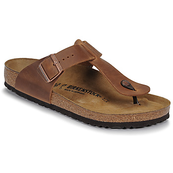 Chaussures Homme Tongs Birkenstock MEDINA LEATHER Antique Brown