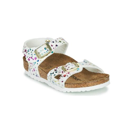 Chaussures Fille Sandales et Nu-pieds Birkenstock RIO Blanc / Multicolore