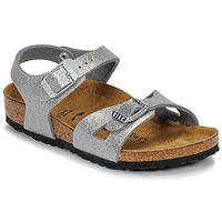 Chaussures Fille Milano Kids Bf Desert Soil Birkenstock RIO Glitter Silver