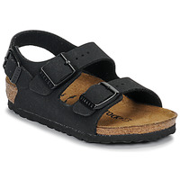Chaussures Garçon Sandales et Nu-pieds Birkenstock MILANO Nubuck Black