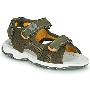 Chaussures Garçon Sandales et Nu-pieds André PIETRO Kaki