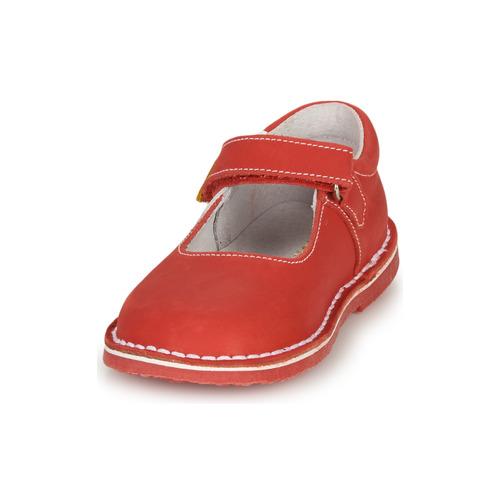 André Paquerette Rouge - Livraison Gratuite- Chaussures Ballerines Enfant 3899