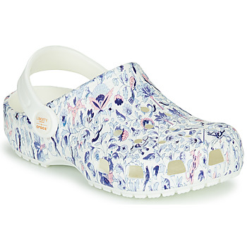 Chaussures Femme Sabots Crocs LIBERTY LONDON X CLASSIC LIBERTY GRAPHIC CLOG K Blanc