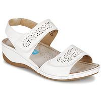 Chaussures Femme Sandales et Nu-pieds Damart MILANA Blanc
