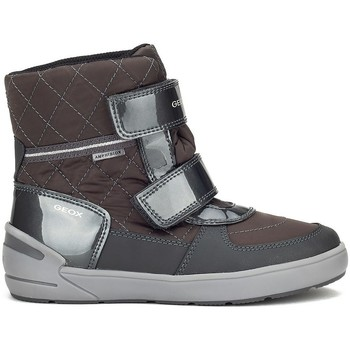 Chaussures Fille Boots Geox JR Sleigh Girl Abx Gris