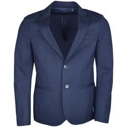 Vêtements Homme Vestes / Blazers Armani Blazer  Exchange bleu marine ajusté pour homme Bleu