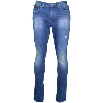 Jeans Armani Jean Exchange bleu coupe droite style destroy pour femme