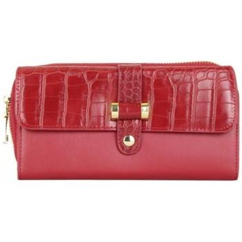 Sacs Femme Portefeuilles A Découvrir ! Portefeuille à zip motif imprimé animal croco rouge Multicolor