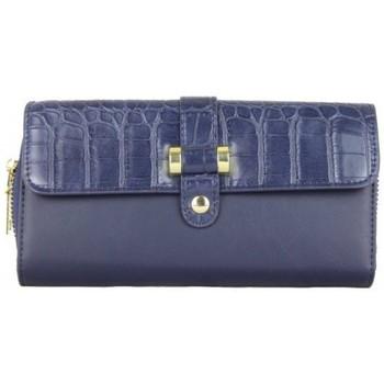 Sacs Femme Portefeuilles A Découvrir ! Portefeuille à zip motif imprimé animal croco bleu marine Multicolor