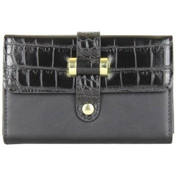 Sacs Femme Porte-monnaie A Découvrir ! Porte monnaie motif imprimé animal croco noir Multicolor