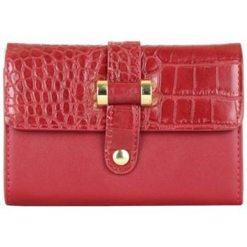 Sacs Femme Porte-monnaie A Découvrir ! Porte monnaie motif imprimé animal croco rouge Multicolor