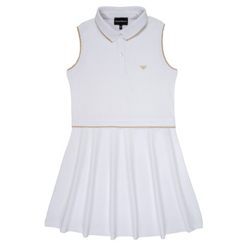 Vêtements Fille Robes courtes Emporio Armani Abraham Blanc
