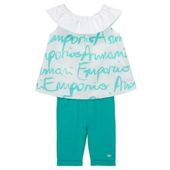 Vêtements Fille Ensembles enfant Emporio Armani Alex Blanc / Bleu