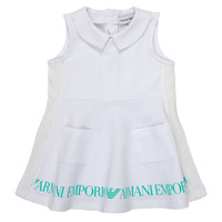 Vêtements Fille Robes courtes Emporio Armani Apollinaire Blanc