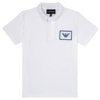 Vêtements Garçon Polos manches courtes Emporio Armani Aime Blanc