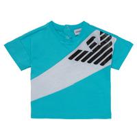 Vêtements Garçon T-shirts manches courtes Emporio Armani Alois Bleu / Blanc