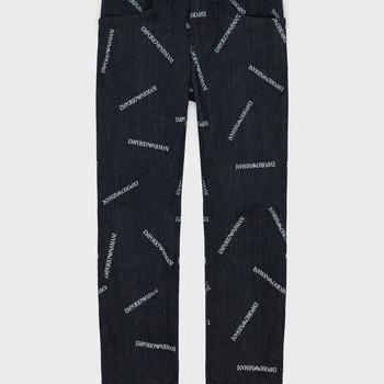 Vêtements Garçon Jeans droit Emporio Armani Adil Bleu