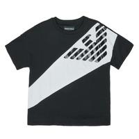 Vêtements Garçon T-shirts manches courtes Emporio Armani Blaise Noir / Blanc