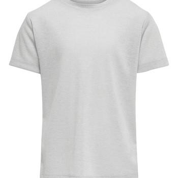 Vêtements Fille T-shirts manches courtes Only KONSILVERY Argenté