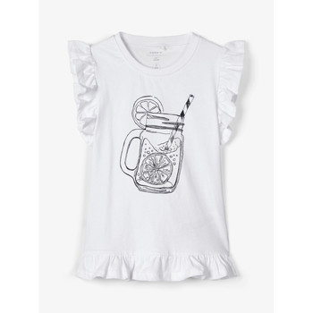 Vêtements Fille Débardeurs / T-shirts sans manche Name it NKFZELANA Blanc